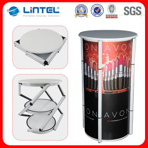 Advertising Aluminum Spiral Tower Display Folded Promotion Table pictures & photos