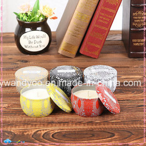 Eco-Friendly Soy Tin Candles Scented with Metal Lid pictures & photos