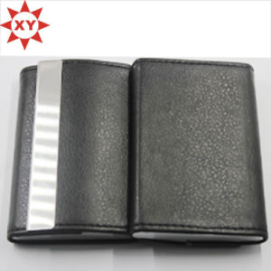 Black Leather Name Card Business Card Holder pictures & photos