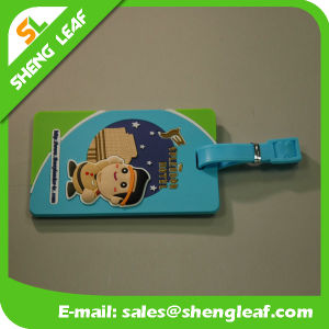 3D Custom Logo Brand PVC Rubber Luggage Tag (SLF-LT034) pictures & photos