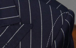 Double Breasted Stripe Tailored Seersucker Suit for Men pictures & photos