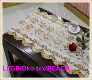 New Design PVC Golden Lace Table Cloth in Roll 50cm Width Cheap Price pictures & photos