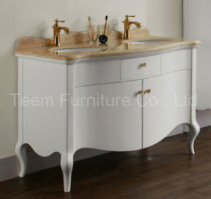 Modern Solid Wooden Bathroom Vanity Cabinet for Sale pictures & photos