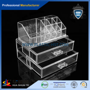 New Product 2016 Acrylic Makeup Organizer, Clear Make up Organizer Acrylic Stands with Flip up Lid pictures & photos