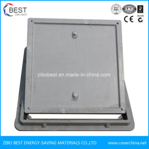 A15 600mm Square Rubber Plastic Manhole Cover with Gasket pictures & photos