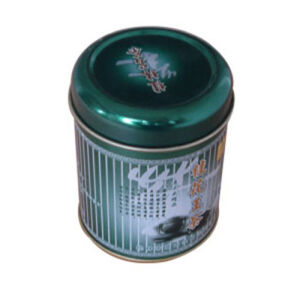 Metal Round Printed Tea Tin