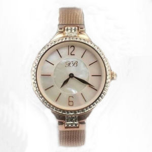 Rose Golden Plated Wrist Watch for Lady Lw-05A