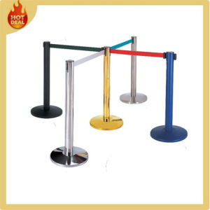 Airport Steel Crowd Control Posts Retractable Queue Pole pictures & photos