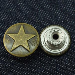 Star Copper Vintage Metal Remove Jeans Jacket Buttons pictures & photos