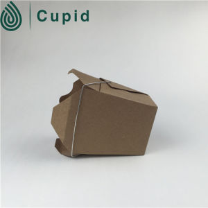 Folding Brown Gift Kraft Paper Box with Ribbon pictures & photos