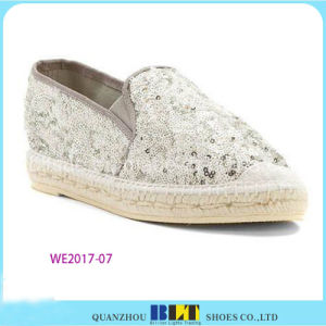 Hot Sale Shinny Casual Shoes Espadrilles pictures & photos