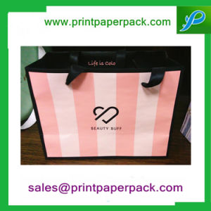 Luxury Custom Printed Color Paper Gift Cosmetic Shopping Bag pictures & photos