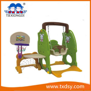 2016 Hot Selling Plastic Toys Swing and Plastic Slide pictures & photos