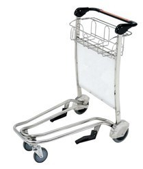High Qulaity Aluminium Alloy Luggage Trolley Cart with Advertisement Board pictures & photos