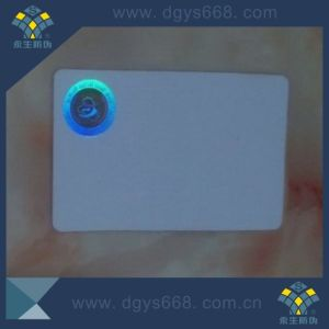 High Quality Hot Stamping Hologram Label on PVC Card pictures & photos