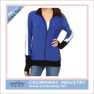 Wholesale Women Dri Fit Gym Wear Gym Jacket with Custom Logo pictures & photos