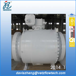 30 Inch Class 600 RF 3PC Type A105 Dbb Bolted Cover Pipeline Ball Valves with Gearbox