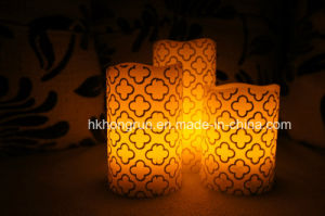 Real Wax LED Candle in Melt Edge (HR100)