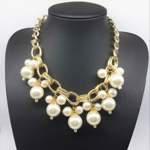 Pearl Chain Gold Plating Necklace (XJW13779) pictures & photos
