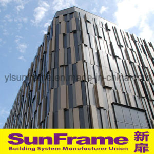 Aluminium Curtain Wall System with Aluminium Cladding Panels and Glasses pictures & photos