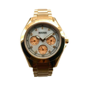2016 Custom High Quality Stainless Steel Quartz Wrist Watch Lw-13A