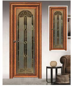 Living Room Tempered Glass Aluminum Casement Door pictures & photos