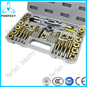 Tin-Coated Hexgon 40PCS Tap and Die Set pictures & photos