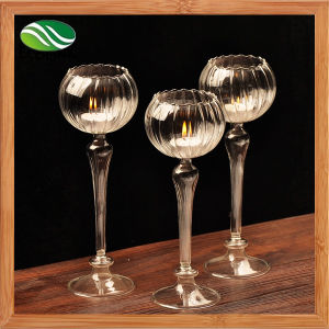 Promotional Table Crystal Glass Candle Stick pictures & photos