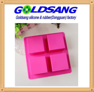 4 Square Silicone Handmake Soap Mold &Cake Mold pictures & photos