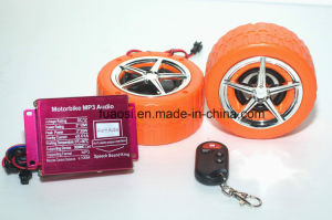 Motorcycle Alarm System MP3 with Wheel Shape