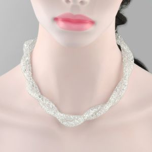 Lady Fashion Jewelry Mesh Metal Crystal Collar Necklace pictures & photos