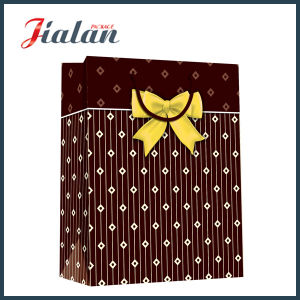 Ribbon Bow Matte Laminated Cheap Custom Paper Bag for Clothes pictures & photos