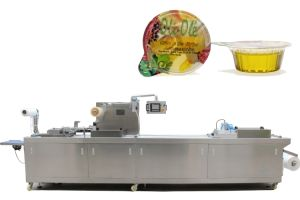 Automatic Olive Oil Thermoforming Filling Sealing Packing Machine in Rigid Film pictures & photos