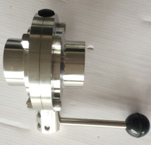 Sanitary Butterfly Valve(304/316L Tc Clamp/Weld/Thread/Male-Female Connection CNC Machine pictures & photos