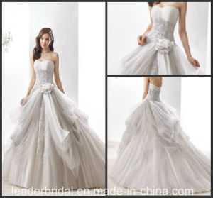 Bridal Ball Gown Silver Lace Wedding Dresses Jb16405 pictures & photos