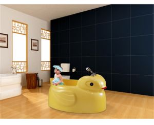 Speacial Yellow Duck Shape Baby Sanitary Massage Bathtub (M-2065) pictures & photos