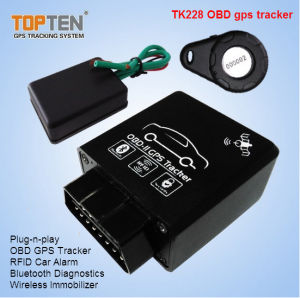 OBD Car GPS Tracker with RFID Identify Driver ID, Wireless Immobilizer Stop Engine Tk228-Ez pictures & photos