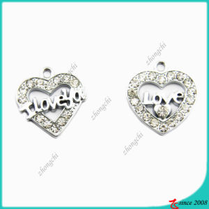 Zinc Alloy Metal Silver Heart Charm pictures & photos