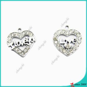 Zinc Alloy Metal Silver Heart Charm