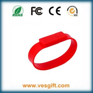 The Most Popular Promotional Gift Silicone Wristband USB Flash Memory pictures & photos