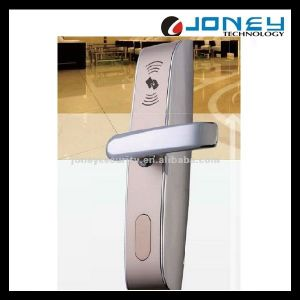 Free Hotel Management Software MIFARE Card RFID Hotel Room Door Lock with Backup Mechanical Key pictures & photos