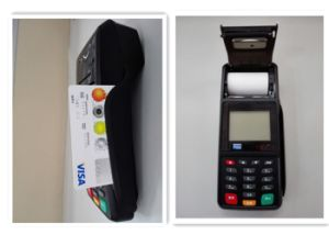 Wireless EMV Chip Card Handheld POS Terminal for Money Transfer pictures & photos