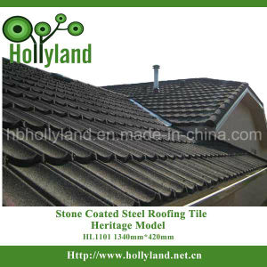 Classical Colored Stone Coated Steel Roof Tile (HL1101) pictures & photos
