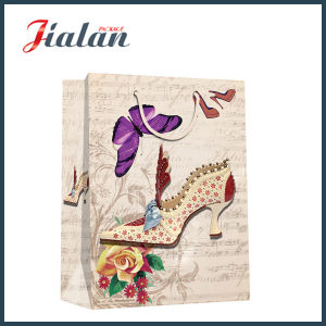 Cheap Customize Logo Printed Classical Lady Design Paper Shopping Bag pictures & photos