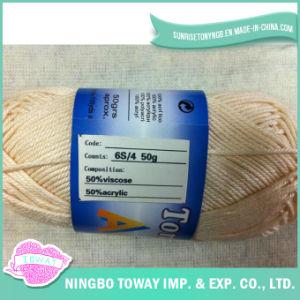 50% Acrylique Viscose 6s / 4 de point de croix fil de laine à tricoter Fils