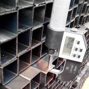 용접된 까만 탄소 사각 강철 빈 관