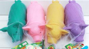 Buntes Schwein-Form-Hundelatex-Haustier-Spielzeug