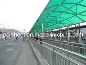 Buen Weather Resistance y Protection ULTRAVIOLETA Polycarbonate Sheet para Outdoor Corridor