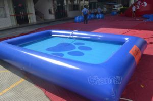 co channal product Cat Dog Footprints Inflatable Swimming Pool CHW  eoyurhrsg