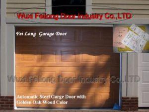 Porta secional da garagem da cor dourada do Madeira-efeito do carvalho - CE da União Europeia Certificated
